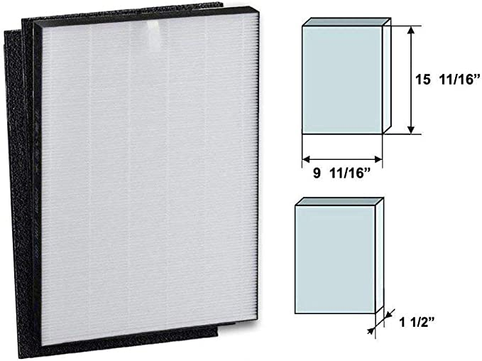 GOODVAC Sharp Non-OEM HEPA Filtro purificador de Aire w/2 ...