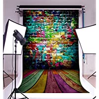 Photography Background Vinyl 5x7ft Backdrop Studio Props Architectural Pattern Cartoon And Graffiti Style