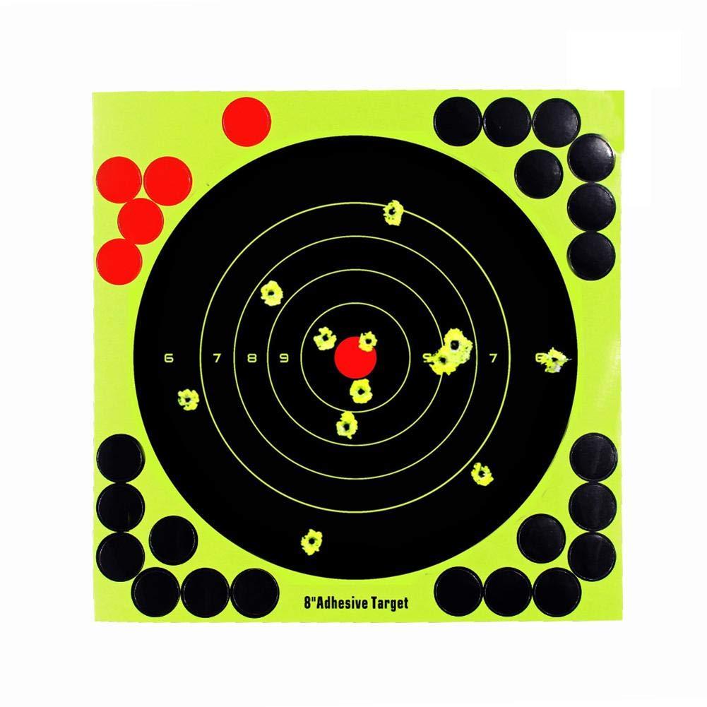 duhe189014 Lot de 20 cibles de tir Autocollantes pour Fusil Airsoft 30,5 cm Jaune 8in
