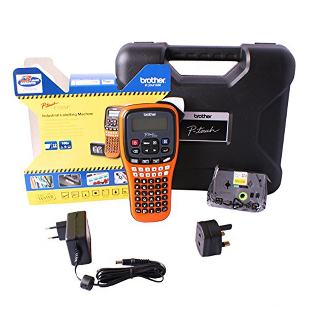 Brother PT-E100VP Handheld Label Printer With Extras Megger