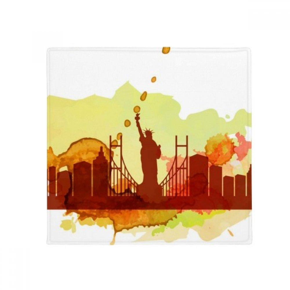 DIYthinker USA America New York City Liberty Watercolor Anti-Slip Floor Pet Mat Square Home Kitchen Door 80Cm Gift