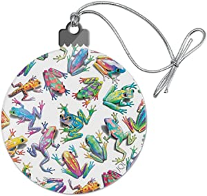 GRAPHICS & MORE Rainbow Rainforest Frogs Sticky Fingers Pattern Acrylic Christmas Tree Holiday Ornament