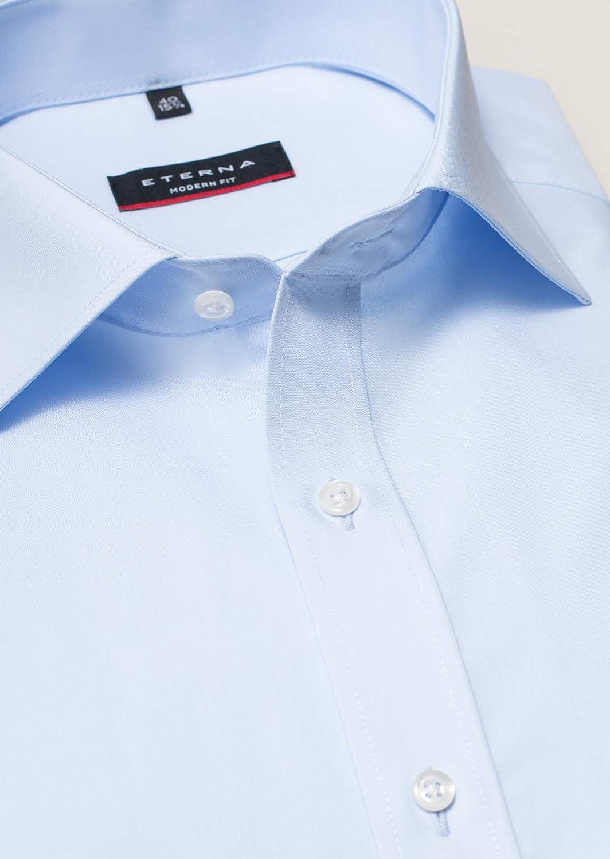 Modern Fit Bügellfreies Herren Langarm Hemd, Eterna 3720 X19P