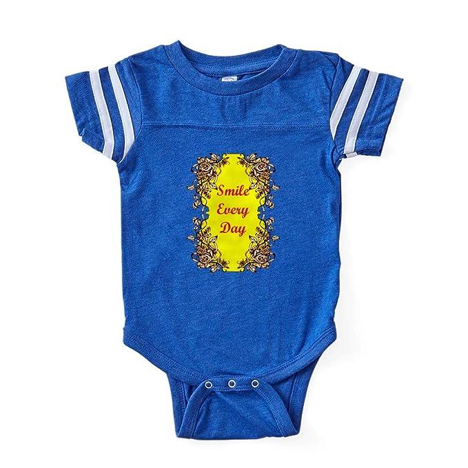 35f2e335ceeb Amazon.com  CafePress Smile Every Day Cute Infant Baby Football Bodysuit   Clothing