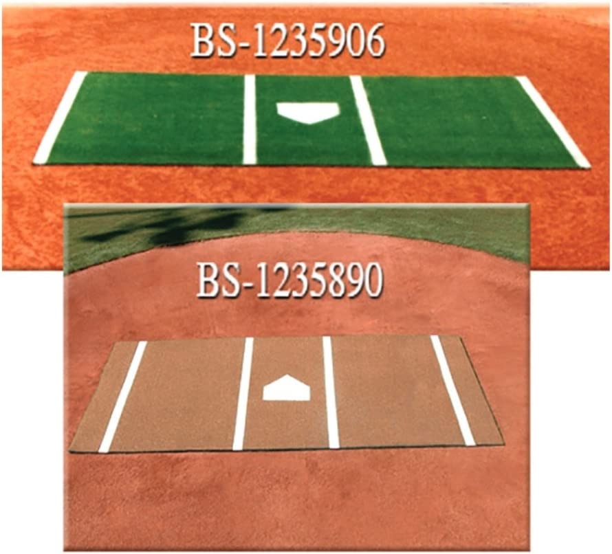 DiamondTurf Home Plate Mat 緑 6 ft.x12 ft.