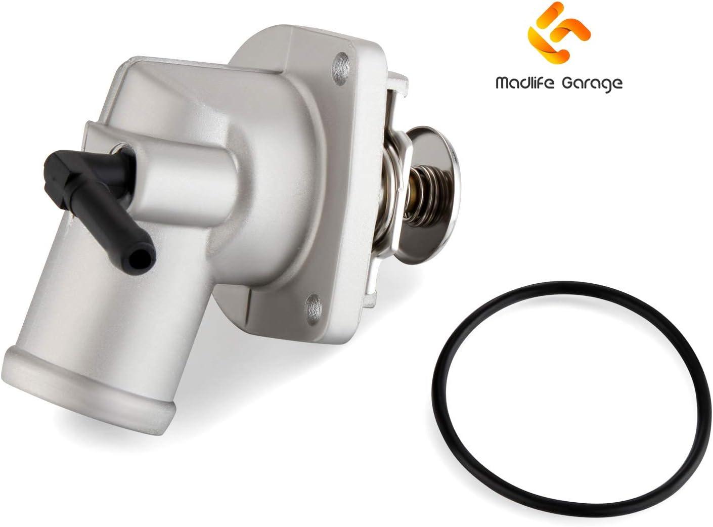 Madlife Garage Thermostatgeh/äuse mit Dichtung 1338003 09129907 f/ür Astra G Meriva Zafira Vectra Combo 1.4 1.6
