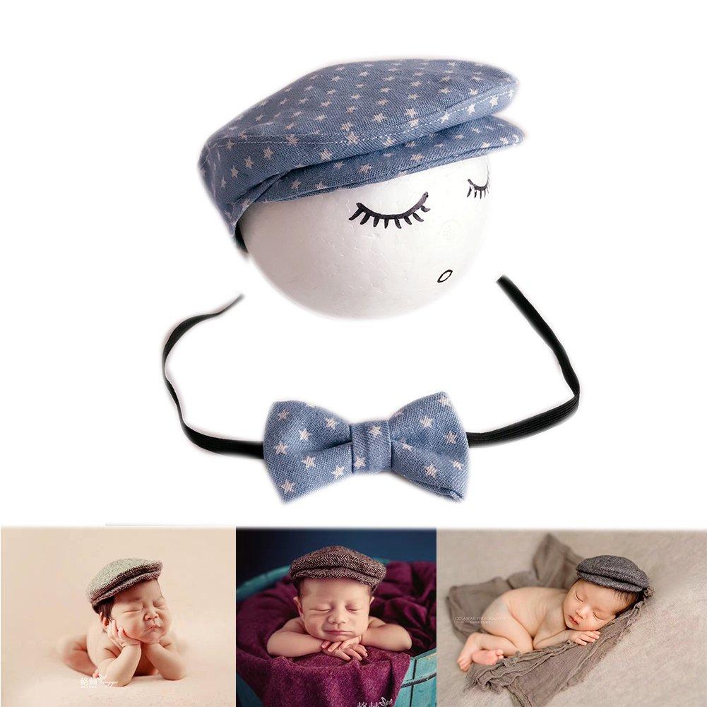 Binlunnu Newborn Baby Photography Photo Props Boy Girl Costume Outfits Hat Tie Set /¡/