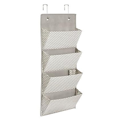 Genial InterDesign 4 Pocket Hanging Closet Organizer   Chevron Over Door Or Wall  Mounted Storage System
