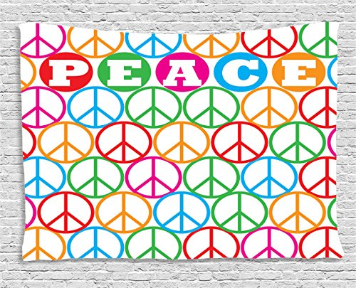 Decor Collection, Colorful Internationally Recognized Peace