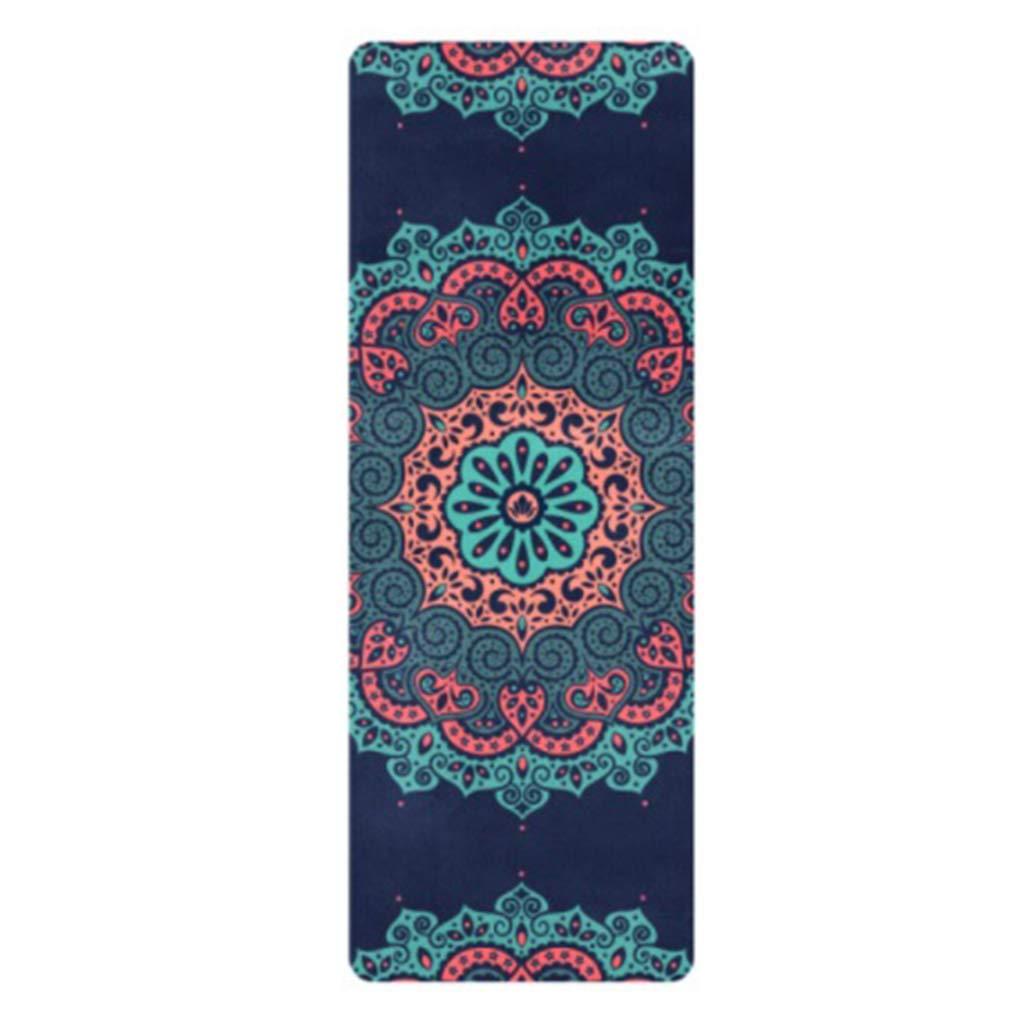 Faltbare Yogamatte Retro   Umweltfreundlicher Naturkautschuk   Luxus-Schweißmatte   Imitation Hirschleder-Oberfläche, für Yoga, Meditation, Tanzen, Outdoor-Kissen, Raumteppich (72  26 cm  1,5 oder 4