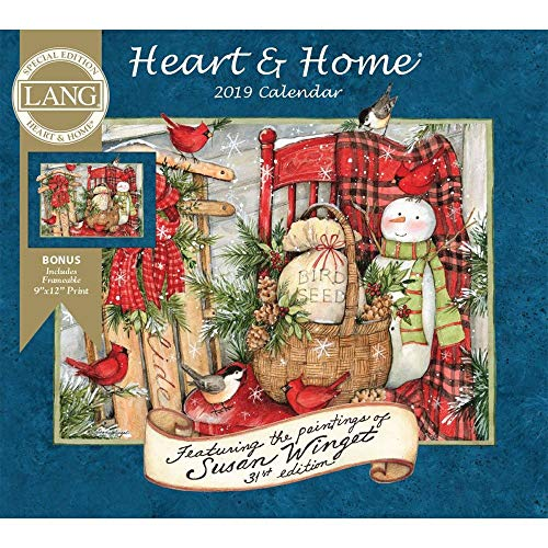 2019 Heart & Home Special Edition Wall Calendar, by Wells Street by LANG