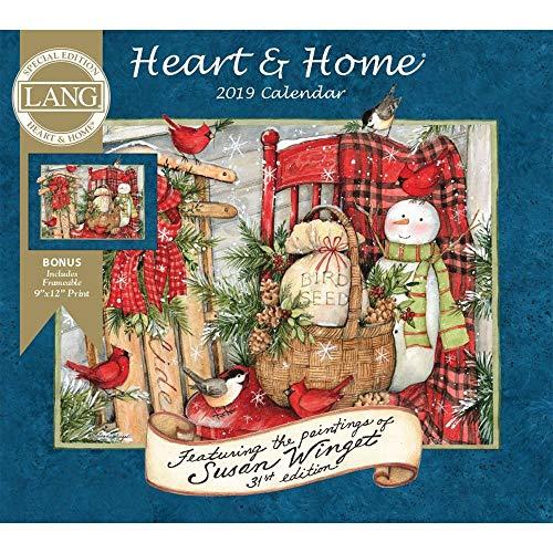 Print Calendar Heart - 2019 Heart & Home Special Edition Wall Calendar, by Wells Street by LANG