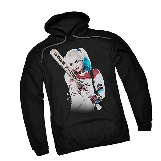 Trevco Bat at You Harley Quinn Suicide Squad Adult Hoodie Sweatshirt