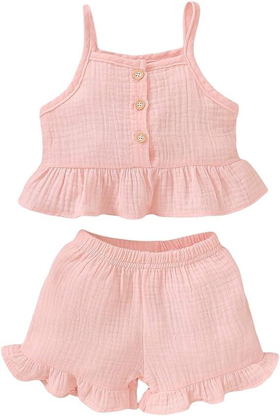 Vestiti per neonato DaMohony pantaloncini per bambini da 0 a 24 mesi canotta