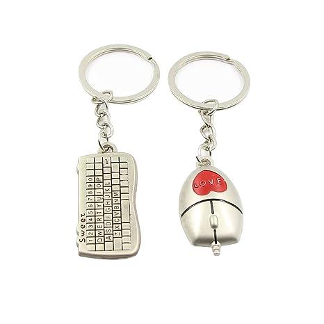 Amazon.com: Hanerdun Mini teclado y mouse llavero con caja ...