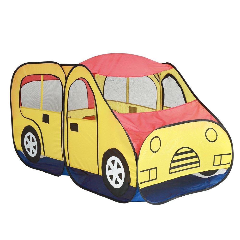 Yzibei Haltbar Faltbares Spiel-Zelt der Kinderkinder tragbares Innen- und im Freienauto-Form-Spiel-Haus-Schauspielhaus für Geburtstag Kinderzelt
