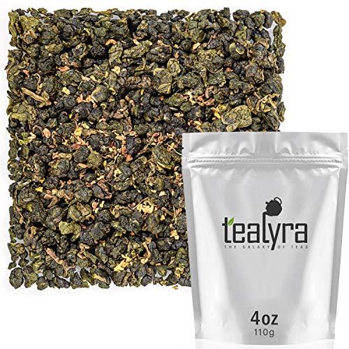 Tealyra - Osmanthus Gui Hua Oolong - Taiwanese Oolong Loose Leafe Tea - Sweet and Aromatic Taste - Organically Produced - 110g (4-ounce) - Osmanthus Oolong Tea