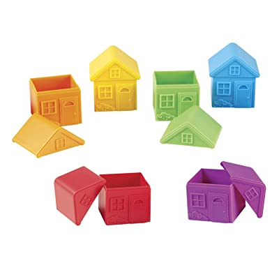 Learning Resources All About Me Sorting Houses, Fine Motor & Sorting Skills, Montessori Toys, Special Education Actives, Imaginative Play, 6 Pieces: Toys & Games