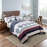 Vue 16215BEDDTXLMUL Mila 90-Inch by 68-Inch 2-Piece Reversible Twin XL Quilt Set, Multi