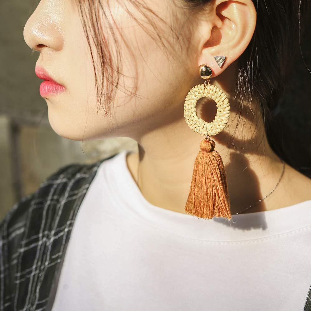 Girls Livtor Tassel Hoop Earrings Drop Dangle Chandelier Fringe Earring for Wmen