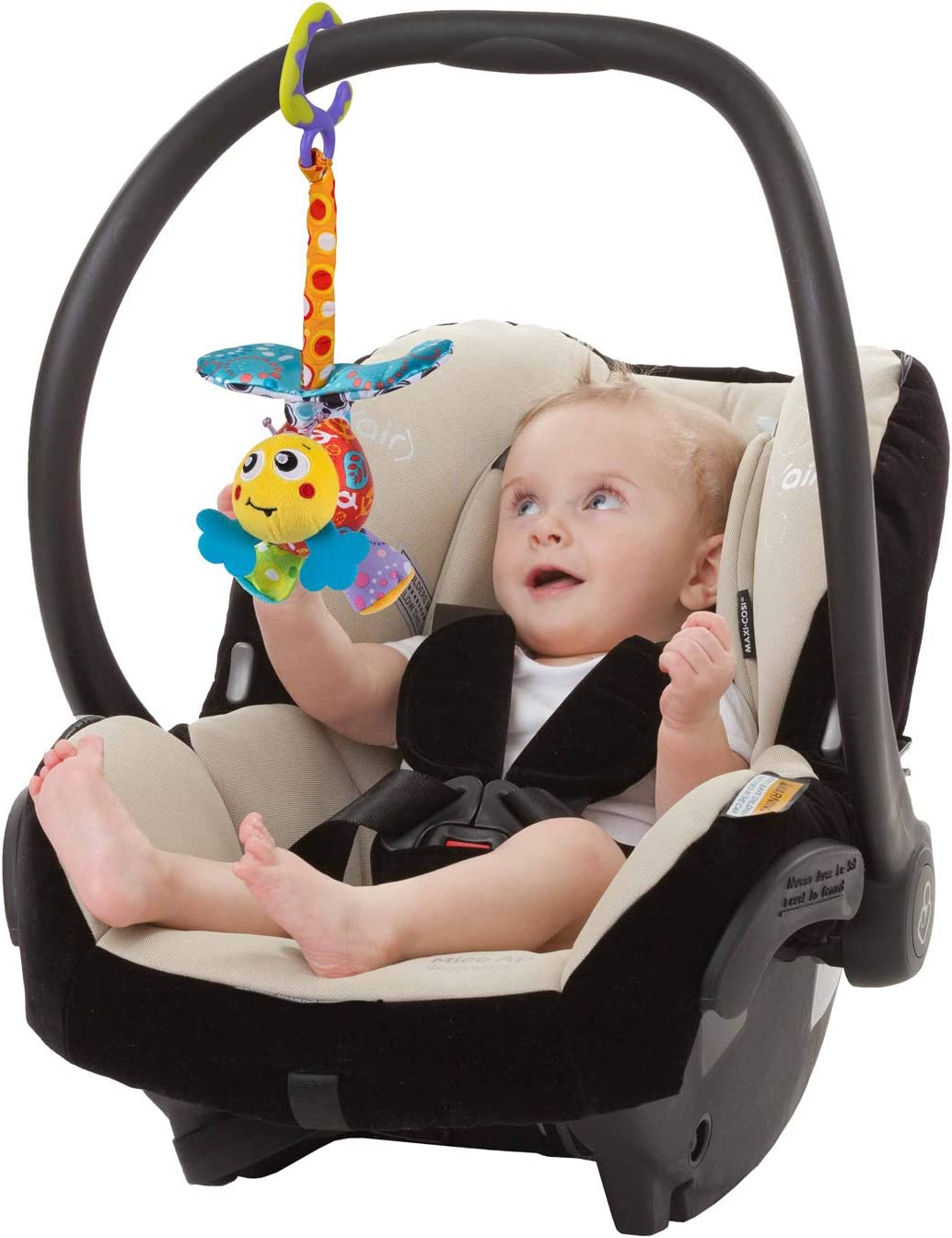 From 0 Months Multicoloured 40204 Playgro Pram Toy Grovy Mover Bee