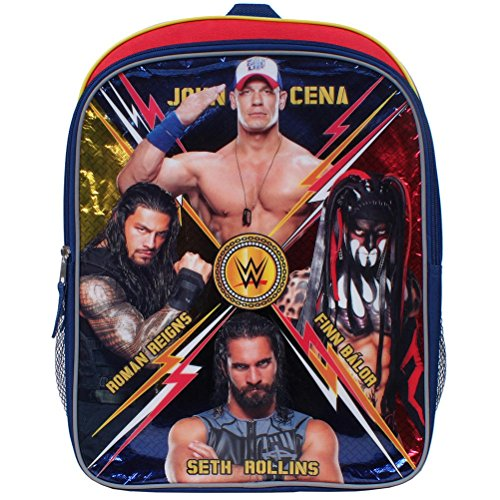 Price comparison product image WWE 16 inch Backpack with Side Mesh Pockets