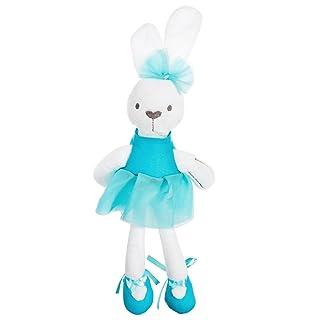 STOBOK Coniglietto Peluche Bambole per Neonato in Blu 42CM