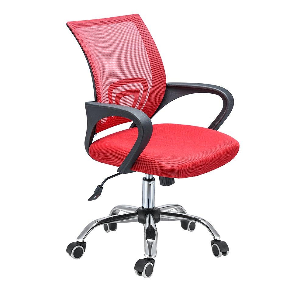 PanaCasa - Silla de para Malla Transpirable Giratorio de 360 Grados para de Escritorio Oficina Dormitorio Rojo bd8c5c