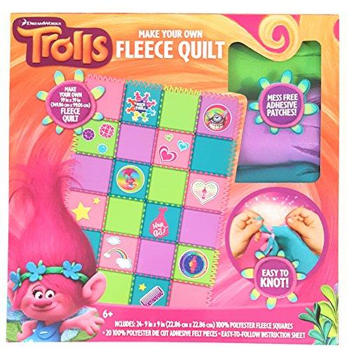 Trolls Easy Make Your Own Fleece Quilt