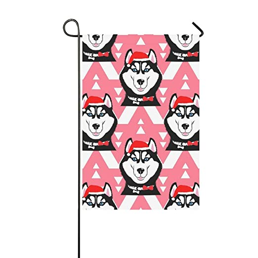 Hogar decorativo exterior doble cara Husky Cap Santa símbolo año ...