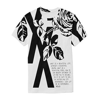 44c3cd010fa21f Aibileen MGK-T-XX Machine Gun Kelly Invincible 19XX RIP Shirt, Flower Rose  Text Art, Men Women Boy Girl Kid Youth, White | Amazon.com