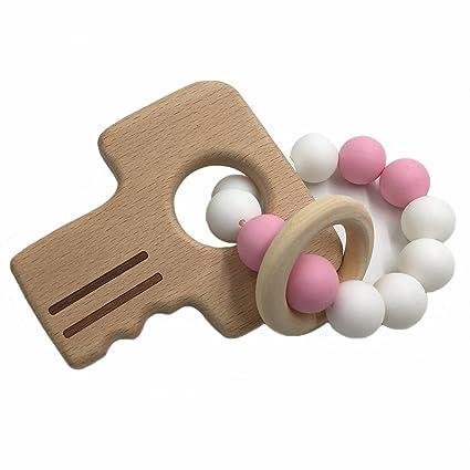 coskiss pulseras para bebé (madera de haya accesorios para ...