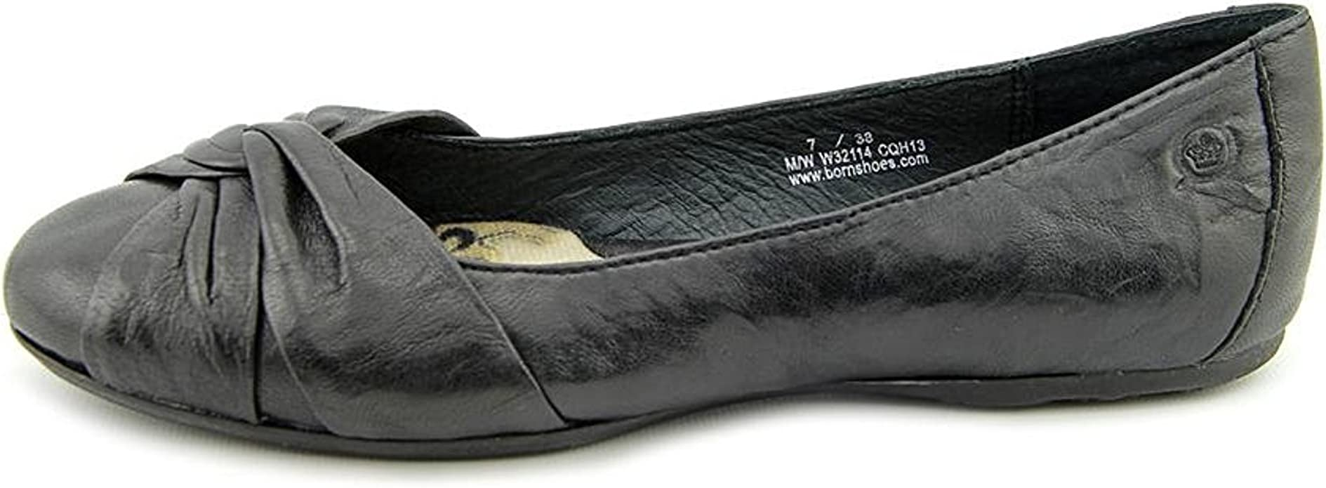BORN Womens Lilly Leather Round Toe