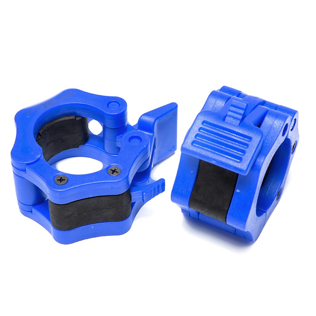 WEIFAN-Exercise equipment Pair of 1'' Standard Weight Bar Clamp Collars - Blue 3