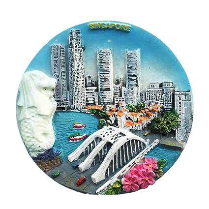 Amazon com: Merlion Singapore World City Resin 3d Strong Luminous