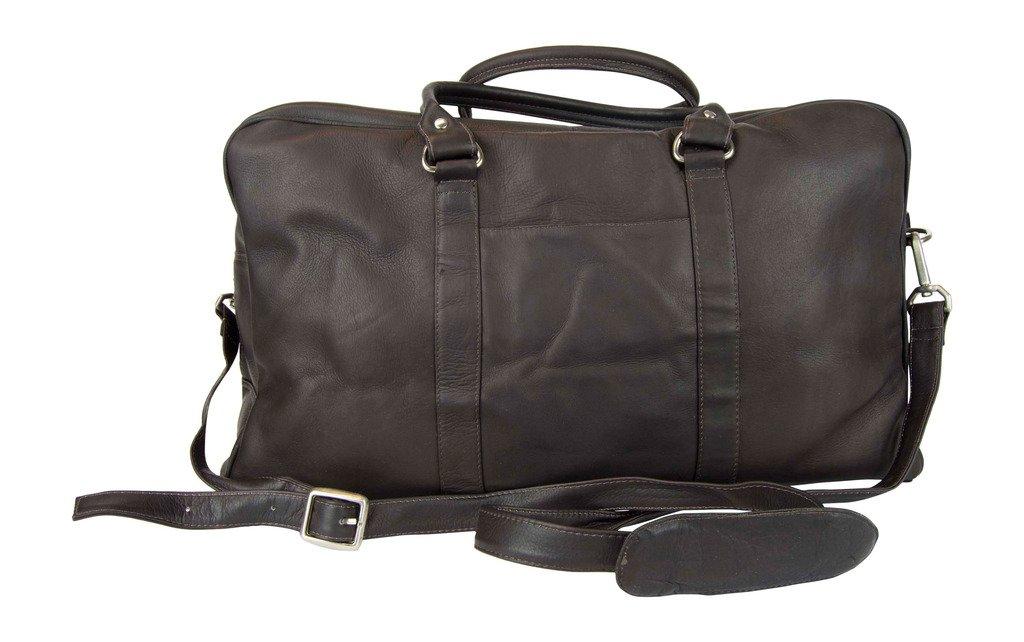Latico Leathers Basics Two Pocket Duffel , Authentic Luxury Leather, Designer Fashion, Top Quality Leather, Cafe, one size by Latico (Image #2)