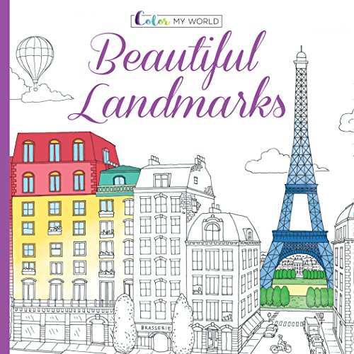 Color My World: Beautiful Landmarks (Adult Coloring Book)