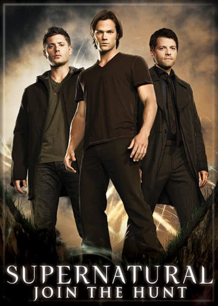 "Ata-Boy Supernatural Sam, Dean and Castiel 2.5"" x 3.5"" Magnet for Refrigerators and Lockers"