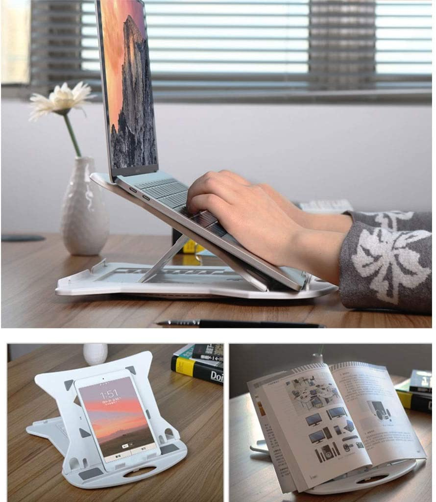 Portable Laptop Stand for Raising Display Height Plastic Color : Black 28x28x2cm 1-2 Tablet PC Stand 4 Colors