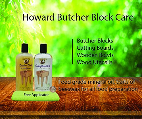 Howard Butcher Block Conditioner and Cutting Board Oil 12 oz, Food Grade Conditioner and Oil, Great for Heave Use Cutting Boards and Utensils, Re hydrate your Cutting Blocks by Howard (Image #2)