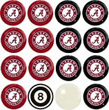 Imperial Officially Licensed NCAA Merchandise: Home vs. Away Billiard/Pool Balls, Complete 16 Ball Set, Alabama Crimson Tide