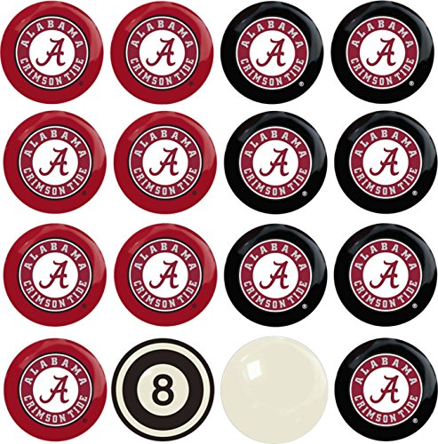 Imperial Officially Licensed NCAA Merchandise: Home vs. Away Billiard/Pool Balls, Complete 16 Ball Set, Alabama Crimson (Pool Balls Walmart)