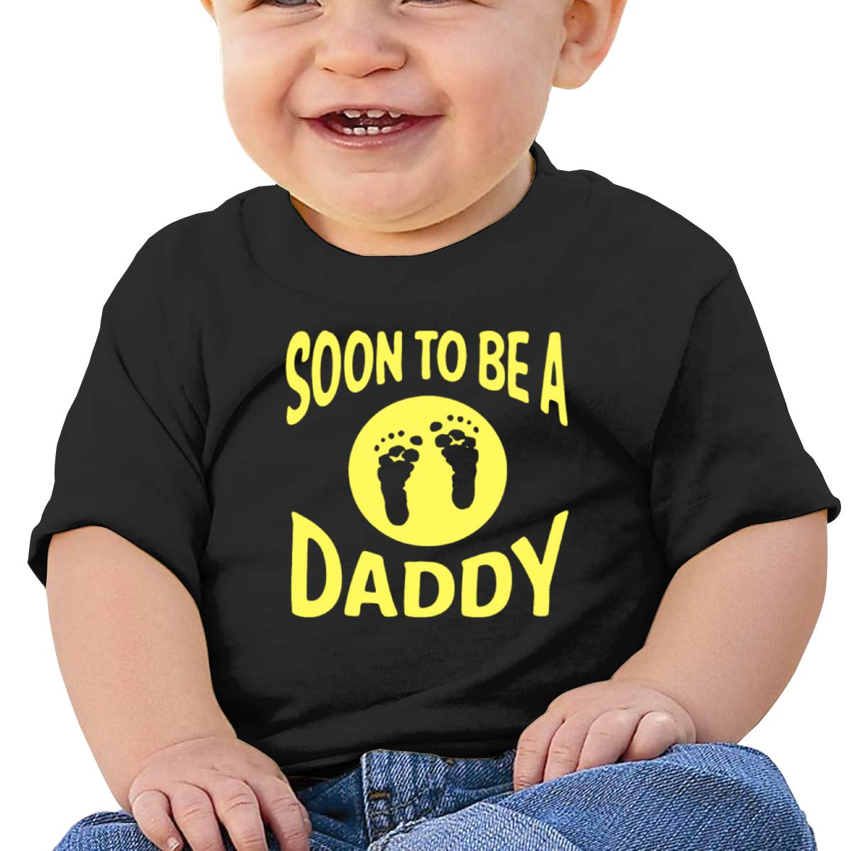 Moniery Soon to Be A Daddy Short Sleeves T Shirt Baby Boy Kids