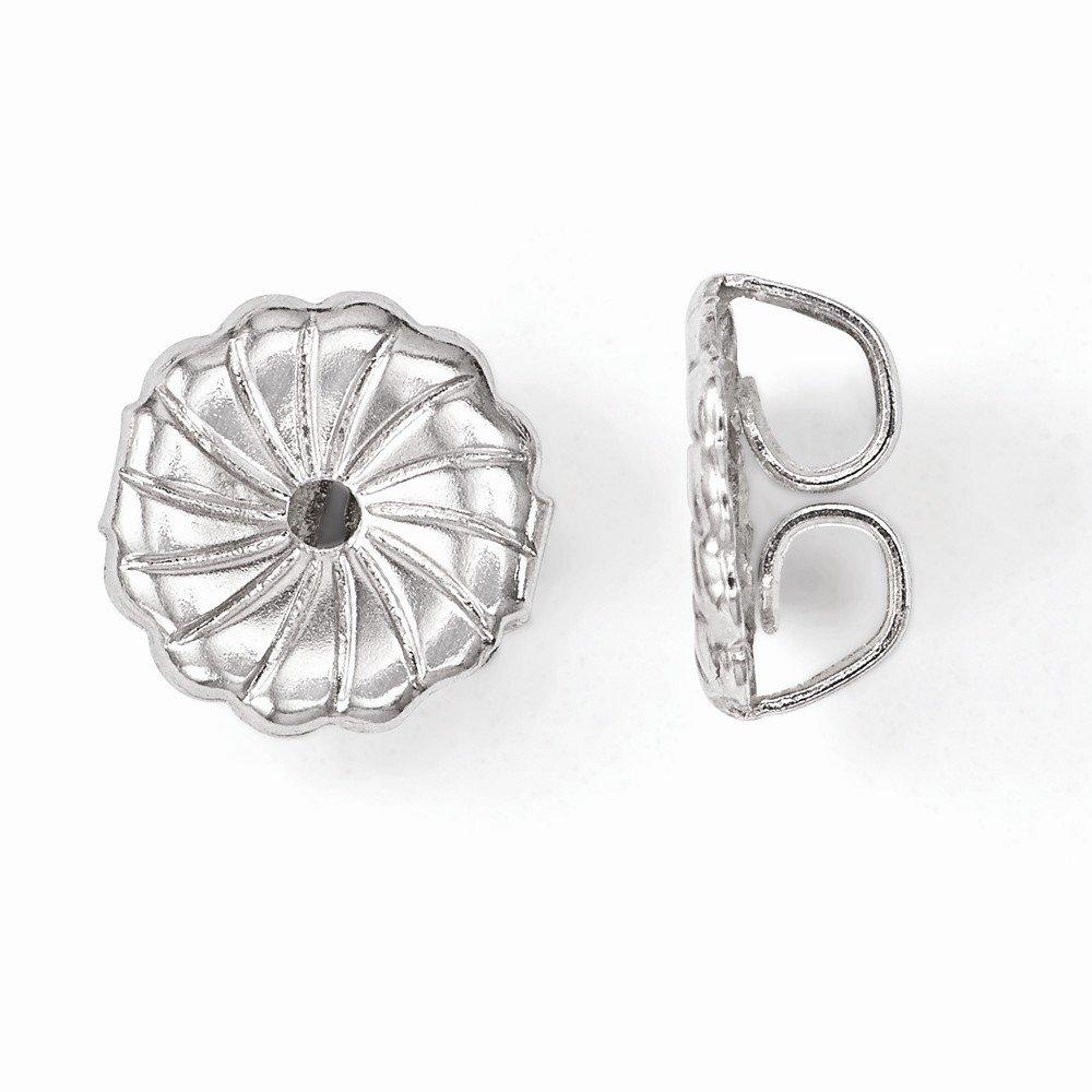 Sterling Silver Majestik Rh-pl 8-9mm Wht Imitat Shell Pearl Stud Earrings