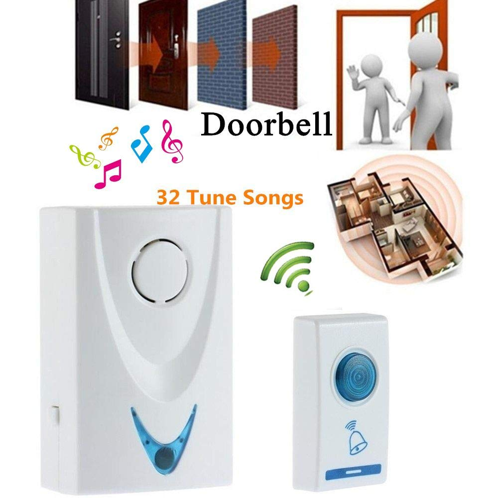 Wireles Remote Control 32Tune Songs Wireless Chime Door Bell Doorbell Easy Use