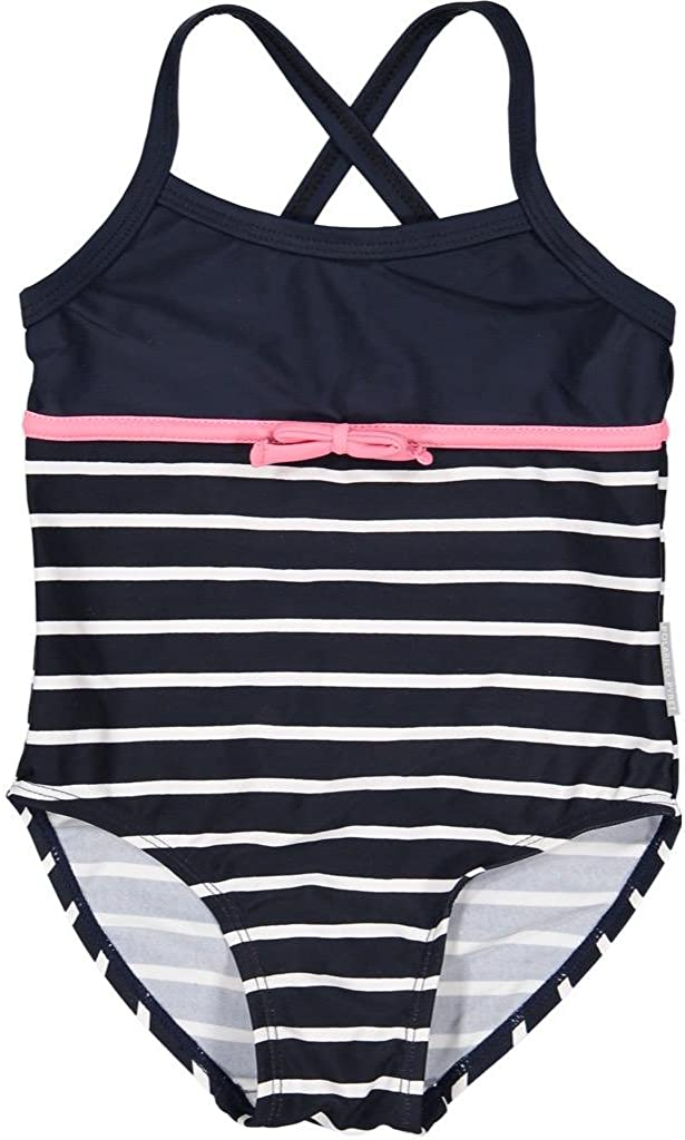 Baby Pyret Striped Swimsuit with Bow Polarn O