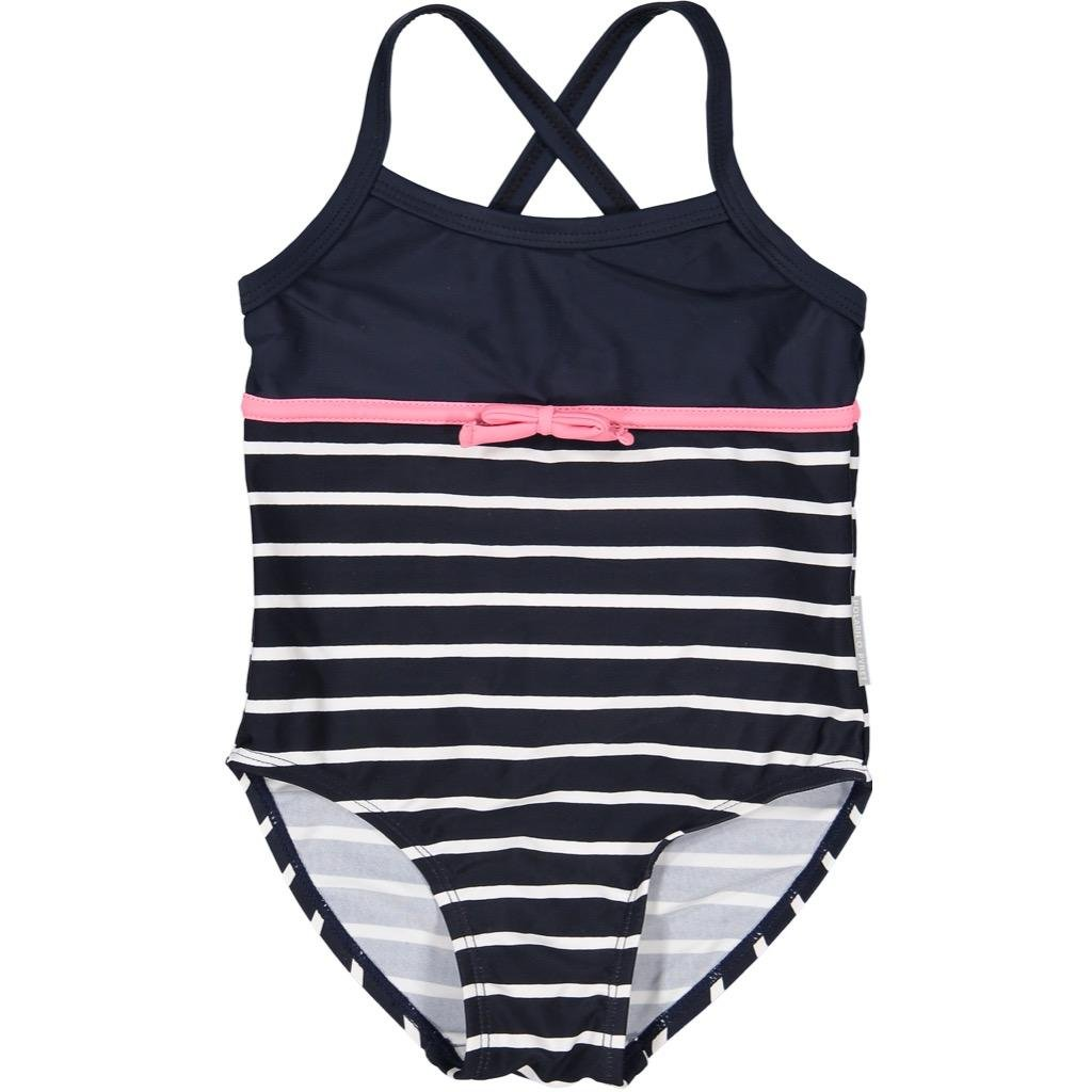 Polarn O Pyret Striped Swimsuit with Bow Baby