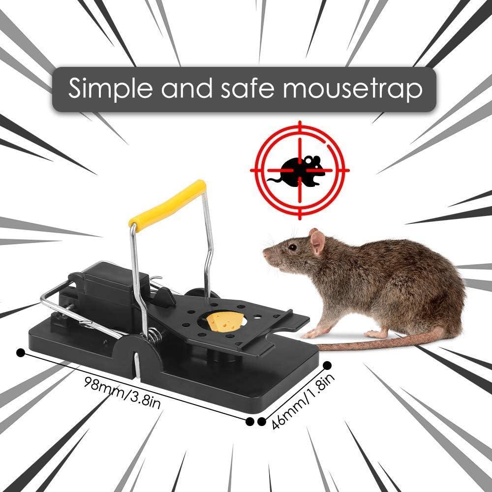 Schlagfalle Profi Rattenfalle 10 Pack Effektive M/äusefallen Schnappfalle Nagetierbek/ämpfung Mausf/änger Einfach Wiederverwendbare M/äusem/örder M/äusefallen JDD M/äusefalle