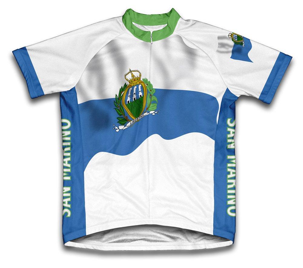 San Marino Drapeau à manches courtes Maillot de cyclisme pour femme Large Blanc - blanc   B00EDKR55G