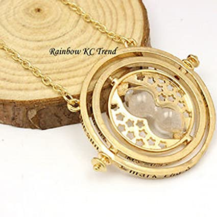 Amazon harry potter time turner hourglass pendant necklace 18k harry potter time turner hourglass pendant necklace 18k gold platedtone mozeypictures Image collections